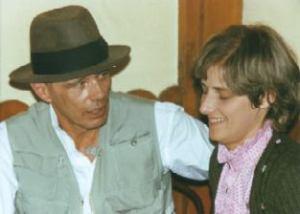 (Bild: Rainer Rappmann) Joseph Beuys und Petra Kelly 1982